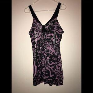 Rue21 Black & purple animal print dress
